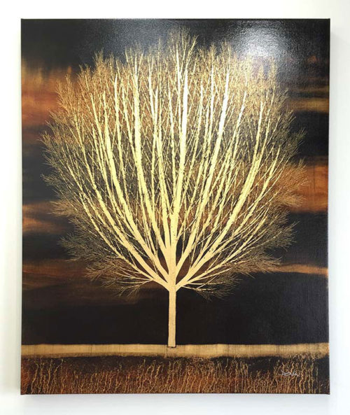 "Tree of Life in Gold by Nakisa Seika at Art Leaders Gallery, voted ""Michigan's Best Fine Art Gallery"" is located in the heart of West Bloomfield. This full service fine art gallery is the destination for all your art and custom picture framing needs. Our extensive inventory of art includes styles ranging from contemporary to traditional. The gallery represents international, national, and emerging new talent as well as local Michigan artists."