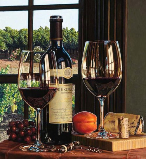 Vineyard View by Eric Christensen at Art Leaders Gallery - Michigan's Finest Art Gallery