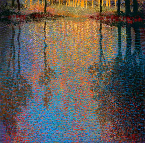 "Summer's Pond by Ton Dubbeldam at Art Leaders Gallery, voted ""Michigan's Best Fine Art Gallery"" is located in the heart of West Bloomfield. This full service fine art gallery is the destination for all your art and custom picture framing needs. Our extensive inventory of art includes styles ranging from contemporary to traditional. The gallery represents international, national, and emerging new talent as well as local Michigan artists."
