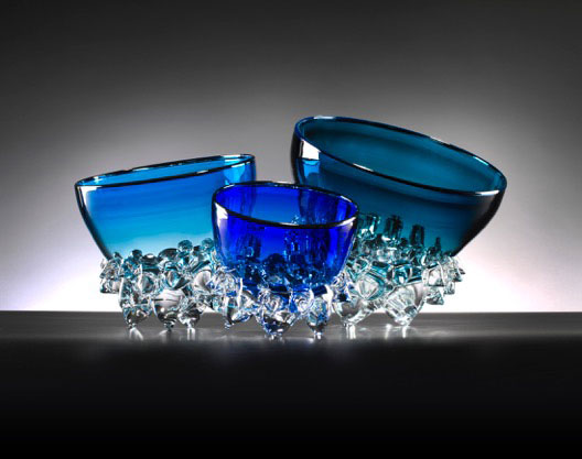 """Aqua Thorn Bowl by Andrew Madvin at Art Leaders Gallery, voted """"Michigan's Best Fine Art Gallery"""" is located in the heart of West Bloomfield. This full service fine art gallery is the destination for all your art and custom picture framing needs. Our extensive inventory of art includes styles ranging from contemporary to traditional. The gallery represents international, national, and emerging new talent as well as local Michigan artists."""