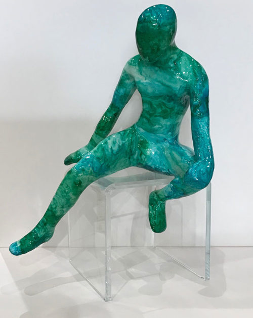 "Item #19: Colorful Male Climber Sitting with Legs Stretched by Ancizar Marin at Art Leaders Gallery, voted ""Michigan's Best Fine Art Gallery"" is located in the heart of West Bloomfield. This full service fine art gallery is the destination for all your art and custom picture framing needs. Our extensive inventory of art includes styles ranging from contemporary to traditional. The gallery represents international, national, and emerging new talent as well as local Michigan artists."