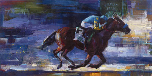 "Win at Belmont by Michael Flohr at Art Leaders Gallery, voted ""Michigan's Best Fine Art Gallery"" is located in the heart of West Bloomfield. This full service fine art gallery is the destination for all your art and custom picture framing needs. Our extensive inventory of art includes styles ranging from contemporary to traditional. The gallery represents international, national, and emerging new talent as well as local Michigan artists."