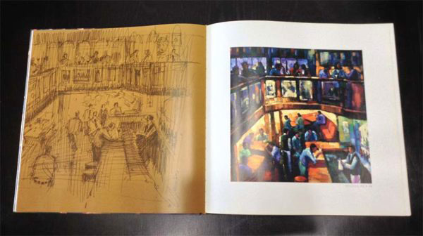 """City Expressions Art Book by Michael Flohr at Art Leaders Gallery, voted """"Michigan's Best Fine Art Gallery"""" is located in the heart of West Bloomfield. This full service fine art gallery is the destination for all your art and custom picture framing needs. Our extensive inventory of art includes styles ranging from contemporary to traditional. The gallery represents international, national, and emerging new talent as well as local Michigan artists."""