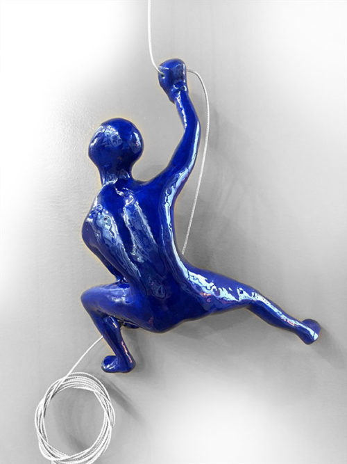 "Item #30: Colorful Male Climber Lunging Left by Ancizar Marin at Art Leaders Gallery, voted ""Michigan's Best Fine Art Gallery"" is located in the heart of West Bloomfield. This full service fine art gallery is the destination for all your art and custom picture framing needs. Our extensive inventory of art includes styles ranging from contemporary to traditional. The gallery represents international, national, and emerging new talent as well as local Michigan artists."