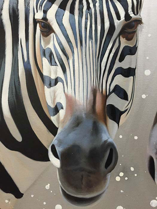"Zebra Duet by R. Henderson at Art Leaders Gallery, voted ""Michigan's Best Fine Art Gallery"" is located in the heart of West Bloomfield. This full service fine art gallery is the destination for all your art and custom picture framing needs. Our extensive inventory of art includes styles ranging from contemporary to traditional. The gallery represents international, national, and emerging new talent as well as local Michigan artists."