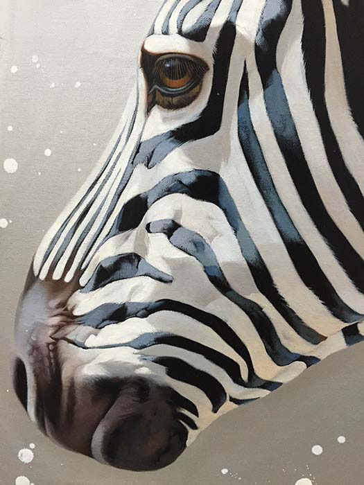 """Zebra Duet by R. Henderson at Art Leaders Gallery, voted """"Michigan's Best Fine Art Gallery"""" is located in the heart of West Bloomfield. This full service fine art gallery is the destination for all your art and custom picture framing needs. Our extensive inventory of art includes styles ranging from contemporary to traditional. The gallery represents international, national, and emerging new talent as well as local Michigan artists."""