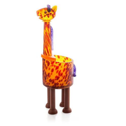 """Giraffe Bowl"" by Borowski Glass Studio. Art Leaders Gallery, voted ""Michigan's Best Fine Art Gallery"" is located in the heart of West Bloomfield. This full service fine art gallery is the destination for all your art and custom picture framing needs. Our extensive inventory of art includes styles ranging from contemporary to traditional. The gallery represents international, national, and emerging new talent as well as local Michigan artists."