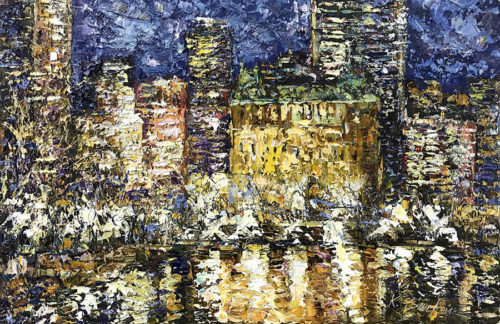 """New York at Night"" by Konstantin Savchenko at Art Leaders Gallery, voted ""Michigan's Best Fine Art Gallery"" is located in the heart of West Bloomfield. This full service fine art gallery is the destination for all your art and custom picture framing needs. Our extensive inventory of art includes styles ranging from contemporary to traditional. The gallery represents international, national, and emerging new talent as well as local Michigan artists."