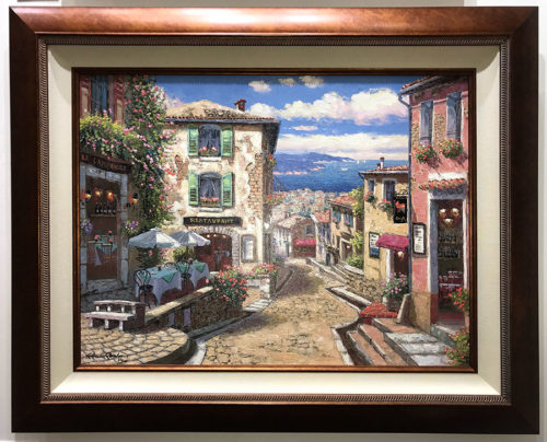 "Rendezvous in Nice by S. Sam Park at Art Leaders Gallery, voted ""Michigan's Best Fine Art Gallery"" is located in the heart of West Bloomfield. This full service fine art gallery is the destination for all your art and custom picture framing needs. Our extensive inventory of art includes styles ranging from contemporary to traditional. The gallery represents international, national and emerging new talent as well as local Michigan artists."