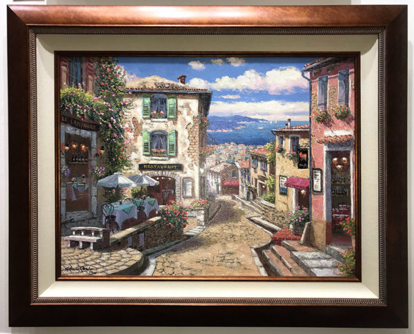 """Rendezvous in Nice by S. Sam Park at Art Leaders Gallery, voted """"Michigan's Best Fine Art Gallery"""" is located in the heart of West Bloomfield. This full service fine art gallery is the destination for all your art and custom picture framing needs. Our extensive inventory of art includes styles ranging from contemporary to traditional. The gallery represents international, national and emerging new talent as well as local Michigan artists."""