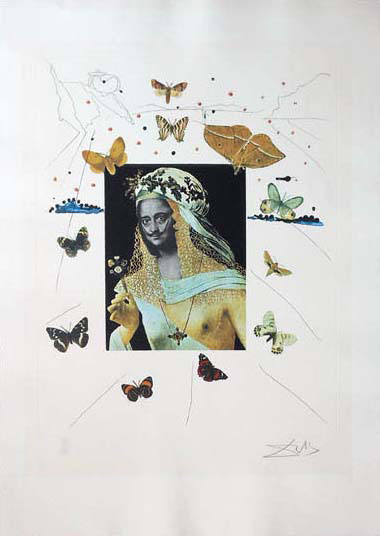 "Surrealistic Portrait of Dali with Butterflies by Salvador Dali at Art Leaders Gallery, voted ""Michigan's Best Fine Art Gallery"" is located in the heart of West Bloomfield. This full service fine art gallery is the destination for all your art and custom picture framing needs. Our extensive inventory of art includes styles ranging from contemporary to traditional. The gallery represents international, national, and emerging new talent as well as local Michigan artists."