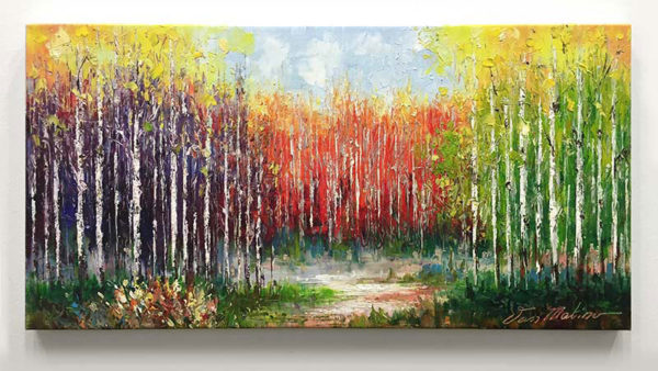 """Color of Life I by Van Matino at Art Leaders Gallery, voted """"Michigan's Best Fine Art Gallery"""" is located in the heart of West Bloomfield. This full service fine art gallery is the destination for all your art and custom picture framing needs. Our extensive inventory of art includes styles ranging from contemporary to traditional. The gallery represents international, national, and emerging new talent as well as local Michigan artists."""