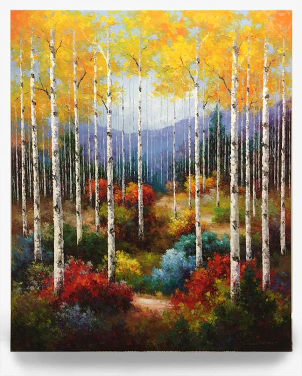 """Colorful Season by Van Matino at Art Leaders Gallery, voted """"Michigan's Best Fine Art Gallery"""" is located in the heart of West Bloomfield. This full service fine art gallery is the destination for all your art and custom picture framing needs. Our extensive inventory of art includes styles ranging from contemporary to traditional. The gallery represents international, national, and emerging new talent as well as local Michigan artists."""