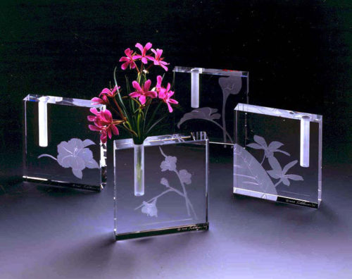 Floral Bud Vases by Stephen Schlanser at Art Leaders Gallery - Michigan's Finest Art Gallery