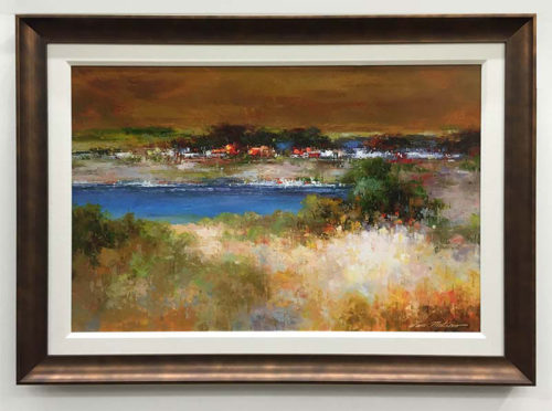 """Lakeside by Van Matino at Art Leaders Gallery, voted """"Michigan's Best Fine Art Gallery"""" is located in the heart of West Bloomfield. This full service fine art gallery is the destination for all your art and custom picture framing needs. Our extensive inventory of art includes styles ranging from contemporary to traditional. The gallery represents international, national, and emerging new talent as well as local Michigan artists."""