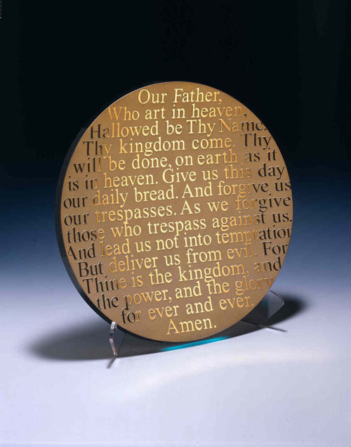 Lord's Prayer Platter by Stephen Schlanser at Art Leaders Gallery - Michigan's Finest Art Gallery
