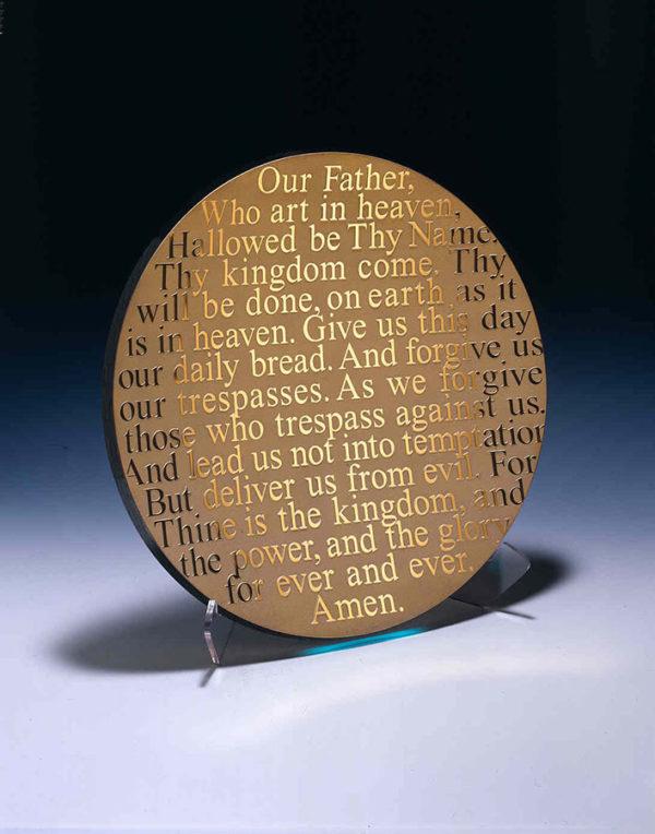 Lord's Prayer Platter by Stephen Schlanser at Art Leaders Gallery - Michigan's Finest Art Gallery
