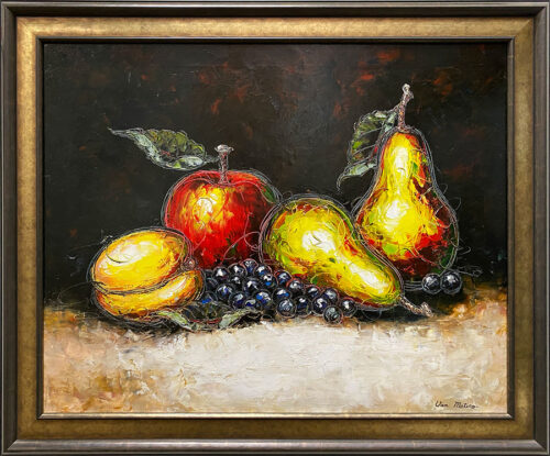 Still Life Oil Painting of Fruits