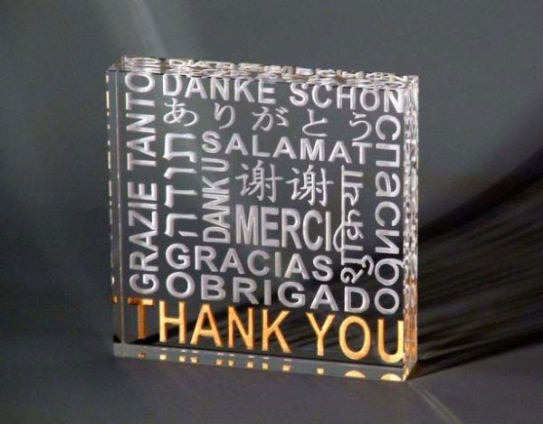 Thank You Paperweight by Stephen Schlanser at Art Leaders Gallery - Michigan's Finest Art Gallery