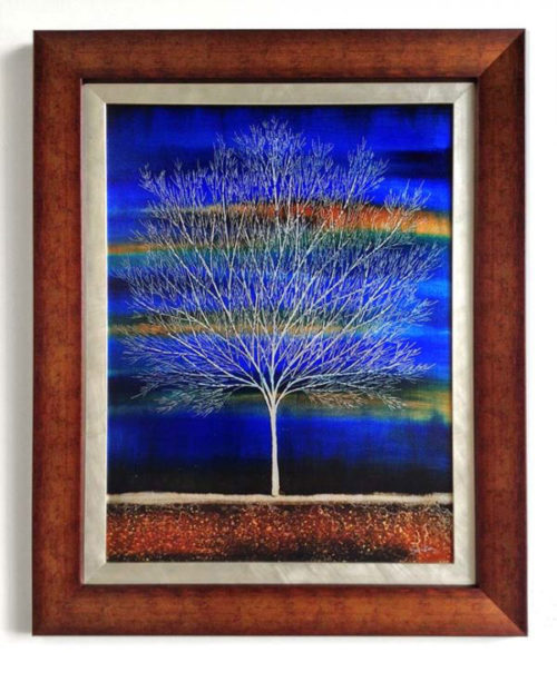 "Tree of Life in Midnight Blue by Nakisa Seika at Art Leaders Gallery, voted ""Michigan's Best Fine Art Gallery"" is located in the heart of West Bloomfield. This full service fine art gallery is the destination for all your art and custom picture framing needs. Our extensive inventory of art includes styles ranging from contemporary to traditional. The gallery represents international, national, and emerging new talent as well as local Michigan artists."