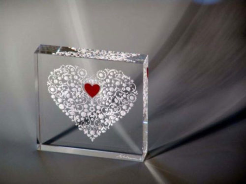 True Love Paperweight by Stephen Schlanser at Art Leaders Gallery - Michigan's Finest Art Gallery
