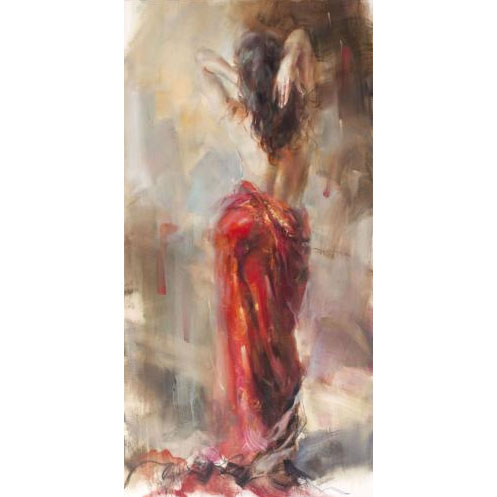"""Aurora in Red II"" by Anna Razumovskaya at Art Leaders Gallery, voted ""Michigan's Best Fine Art Gallery"" is located in the heart of West Bloomfield. This full service fine art gallery is the destination for all your art and custom picture framing needs. Our extensive inventory of art includes styles ranging from contemporary to traditional. The gallery represents international, national and emerging new talent as well as local Michigan artists."