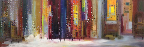 City at Night by Ekaterina Ermilkina at Art Leaders Gallery - Michigan's Finest Art Gallery