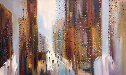 Downtown by Ekaterina Ermilkina at Art Leaders Gallery - Michigan's Finest Art Gallery