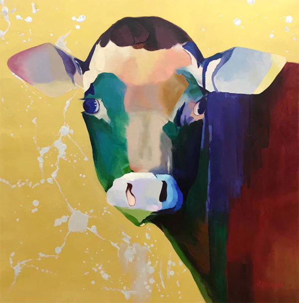 "Mooing it Over by R. Henderson at Art Leaders Gallery, voted ""Michigan's Best Fine Art Gallery"" is located in the heart of West Bloomfield. This full service fine art gallery is the destination for all your art and custom picture framing needs. Our extensive inventory of art includes styles ranging from contemporary to traditional. The gallery represents international, national, and emerging new talent as well as local Michigan artists."