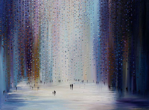 Silver Rain by Ekaterina Ermilkina at Art Leaders Gallery - Michigan's Finest Art Gallery