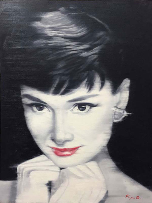 """Simply Audrey by Payne G. at Art Leaders Gallery, voted """"Michigan's Best Fine Art Gallery"""" is located in the heart of West Bloomfield. This full service fine art gallery is the destination for all your art and custom picture framing needs. Our extensive inventory of art includes styles ranging from contemporary to traditional. The gallery represents international, national, and emerging new talent as well as local Michigan artists."""
