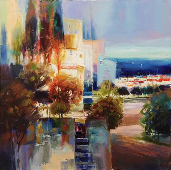 """View from the Hilltop by Sung Min Kim at Art Leaders Gallery, voted """"Michigan's Best Fine Art Gallery"""" is located in the heart of West Bloomfield. This full service fine art gallery is the destination for all your art and custom picture framing needs. Our extensive inventory of art includes styles ranging from contemporary to traditional. The gallery represents international, national, and emerging new talent as well as local Michigan artists."""