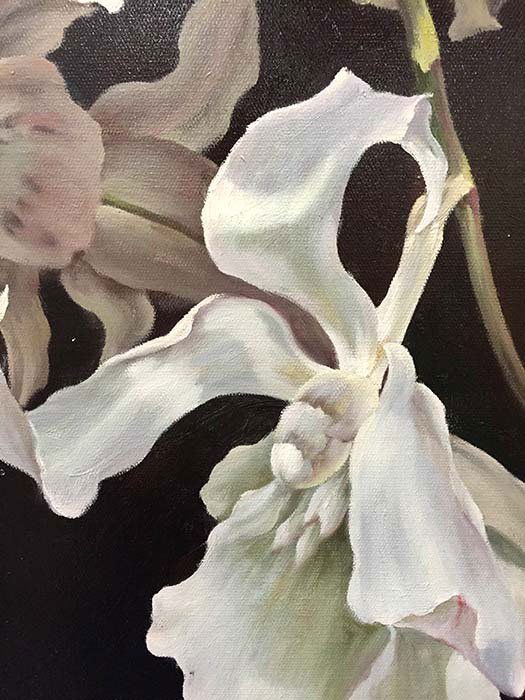 "Wild White Orchids by G. Salman at Art Leaders Gallery, voted ""Michigan's Best Fine Art Gallery"" is located in the heart of West Bloomfield. This full service fine art gallery is the destination for all your art and custom picture framing needs. Our extensive inventory of art includes styles ranging from contemporary to traditional. The gallery represents international, national, and emerging new talent as well as local Michigan artists."