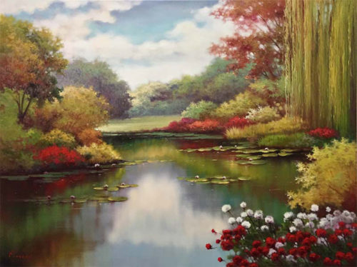 "Eternal Springtime I by Pan Mossi at Art Leaders Gallery, voted ""Michigan's Best Fine Art Gallery"" is located in the heart of West Bloomfield. This full service fine art gallery is the destination for all your art and custom picture framing needs. Our extensive inventory of art includes styles ranging from contemporary to traditional. The gallery represents international, national, and emerging new talent as well as local Michigan artists."