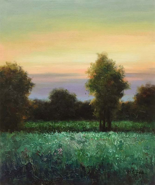"Twilight by M.S. Park at Art Leaders Gallery, voted ""Michigan's Best Fine Art Gallery"" is located in the heart of West Bloomfield. This full service fine art gallery is the destination for all your art and custom picture framing needs. Our extensive inventory of art includes styles ranging from contemporary to traditional. The gallery represents international, national and emerging new talent as well as local Michigan artists."