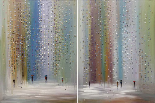 Walking in the Rain by Ekaterina Ermilkina at Art Leaders Gallery - Michigan's Finest Art Gallery