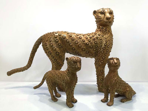 """Cheetah and Babies"" by Han Vo at Art Leaders Gallery, voted ""Michigan's Best Fine Art Gallery"" is located in the heart of West Bloomfield. This full service fine art gallery is the destination for all your art and custom picture framing needs. Our extensive inventory of art includes styles ranging from contemporary to traditional. The gallery represents international, national and emerging new talent as well as local Michigan artists."