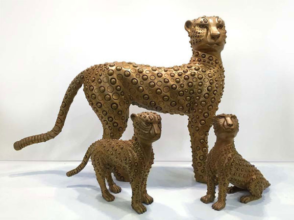 """""""Cheetah and Babies"""" by Han Vo at Art Leaders Gallery, voted """"Michigan's Best Fine Art Gallery"""" is located in the heart of West Bloomfield. This full service fine art gallery is the destination for all your art and custom picture framing needs. Our extensive inventory of art includes styles ranging from contemporary to traditional. The gallery represents international, national and emerging new talent as well as local Michigan artists."""