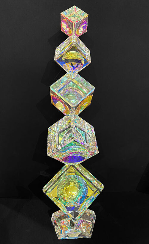Glass Crystal Cubes