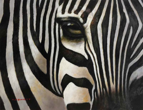 "Eye of the Zebra by M. P. Elliott at Art Leaders Gallery, voted ""Michigan's Best Fine Art Gallery"" is located in the heart of West Bloomfield. This full service fine art gallery is the destination for all your art and custom picture framing needs. Our extensive inventory of art includes styles ranging from contemporary to traditional. The gallery represents international, national, and emerging new talent as well as local Michigan artists."