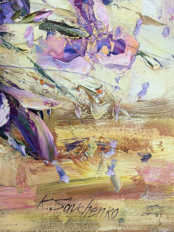 """""""Irises"""" by Konstantin Savchenko at Art Leaders Gallery, voted """"Michigan's Best Fine Art Gallery"""" is located in the heart of West Bloomfield. This full service fine art gallery is the destination for all your art and custom picture framing needs. Our extensive inventory of art includes styles ranging from contemporary to traditional. The gallery represents international, national, and emerging new talent as well as local Michigan artists."""
