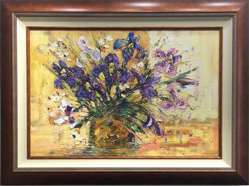"""Irises"" by Konstantin Savchenko at Art Leaders Gallery, voted ""Michigan's Best Fine Art Gallery"" is located in the heart of West Bloomfield. This full service fine art gallery is the destination for all your art and custom picture framing needs. Our extensive inventory of art includes styles ranging from contemporary to traditional. The gallery represents international, national, and emerging new talent as well as local Michigan artists."
