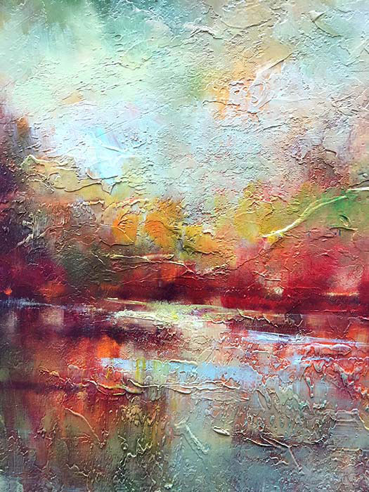 """Reflections in Red by Roger Swan at Art Leaders Gallery, voted """"Michigan's Best Fine Art Gallery"""" is located in the heart of West Bloomfield. This full service fine art gallery is the destination for all your art and custom picture framing needs. Our extensive inventory of art includes styles ranging from contemporary to traditional. The gallery represents international, national, and emerging new talent as well as local Michigan artists."""