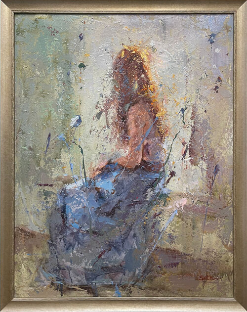 Abstract Figurative Painting of Female
