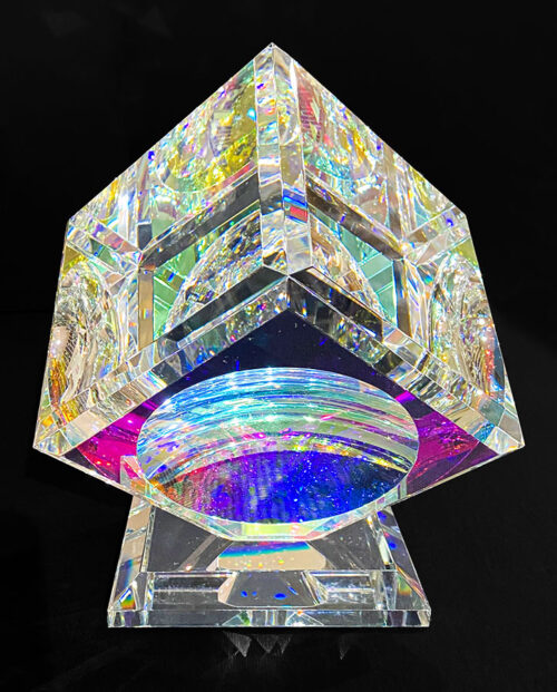 Single Glass Crystal Cube