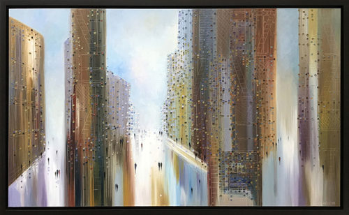 Big City of Dreams by Ekaterina Ermilkina at Art Leaders Gallery - Michigan's Finest Art Gallery