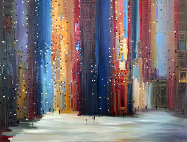 City Lights by Ekaterina Ermilkina at Art Leaders Gallery - Michigan's Finest Art Gallery