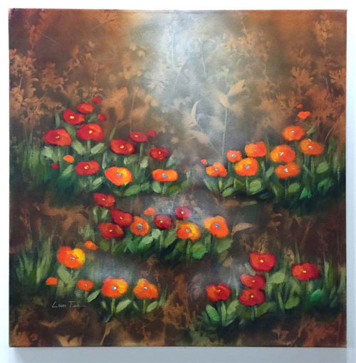 """Flowers in the Mist by Lun Tse at Art Leaders Gallery, voted """"Michigan's Best Fine Art Gallery"""" is located in the heart of West Bloomfield. This full service fine art gallery is the destination for all your art and custom picture framing needs. Our extensive inventory of art includes styles ranging from contemporary to traditional. The gallery represents international, national, and emerging new talent as well as local Michigan artists."""