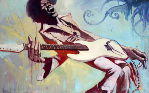 """Jimi by Gabe Leonard at Art Leaders Gallery, voted """"Michigan's Best Fine Art Gallery"""" is located in the heart of West Bloomfield. This full service fine art gallery is the destination for all your art and custom picture framing needs. Our extensive inventory of art includes styles ranging from contemporary to traditional. The gallery represents international, national and emerging new talent as well as local Michigan artists."""