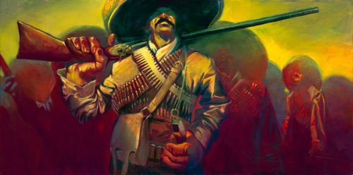 "Pancho Villa by Gabe Leonard at Art Leaders Gallery, voted ""Michigan's Best Fine Art Gallery"" is located in the heart of West Bloomfield. This full service fine art gallery is the destination for all your art and custom picture framing needs. Our extensive inventory of art includes styles ranging from contemporary to traditional. The gallery represents international, national and emerging new talent as well as local Michigan artists."
